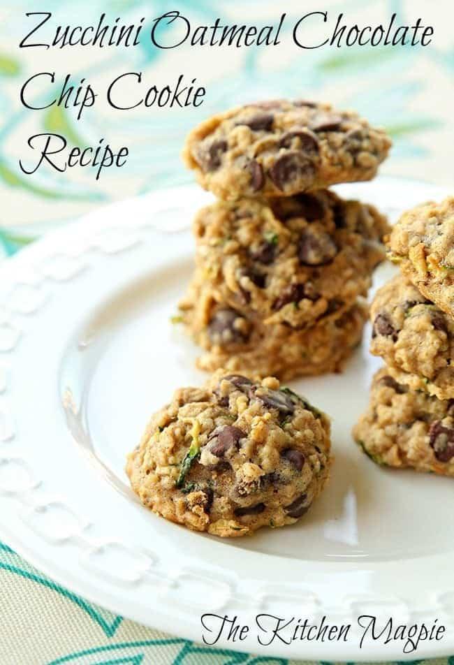 Zucchini Oatmeal Chocolate Chip Cookie Recipe