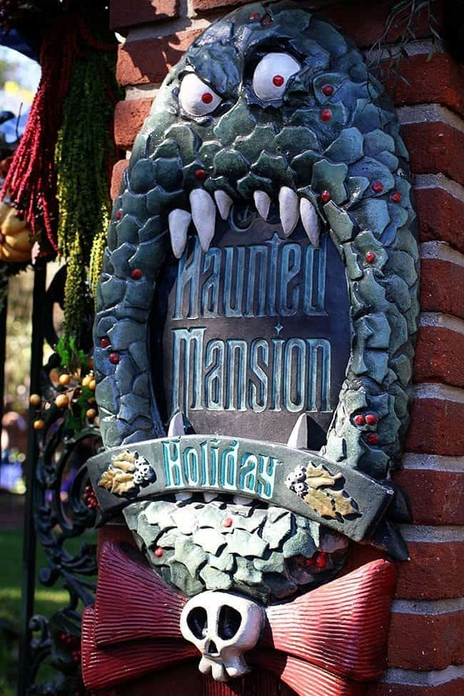 monster figure at the entrance of haunted mansion