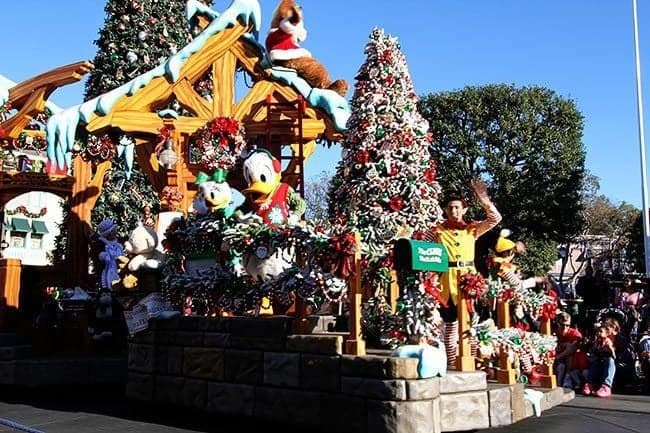 The Christmas parade at Disneyland