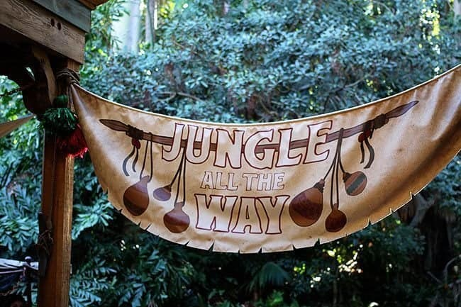banner at the entrance of Jungle Cruise ride