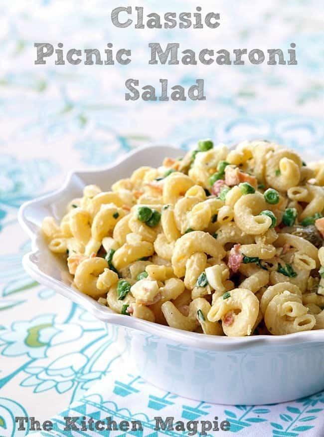 Classic Retro Picnic Macaroni Salad from @kitchenmagpie