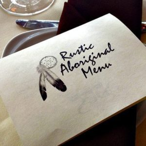 Rustic Aboriginal Dinner Menu Card
