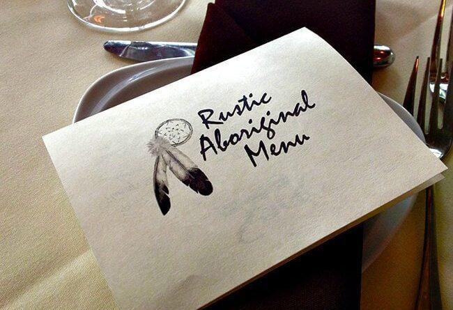 Rustic Aboriginal Dinner Menu Card