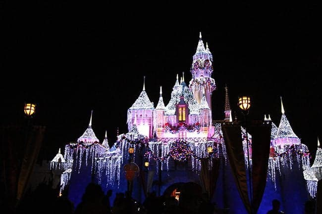 The Sleeping Beauty's Castle view at night