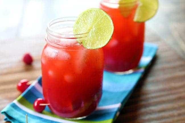 How To Make A Cherry & Raspberry Bourbon Lemonade