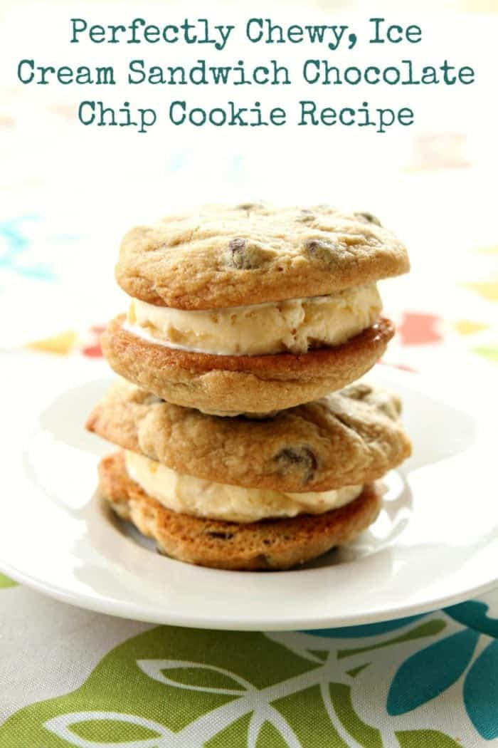 Perfectly Chewy, Ice Cream Sandwich Chocolate Chip Cookie Recipe from @kitchenmagpie