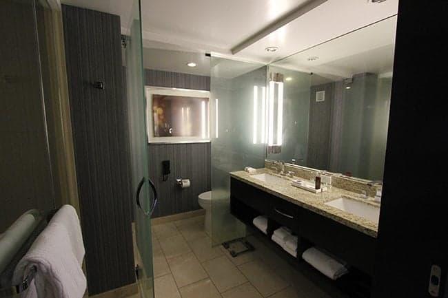 Large Bathroom with Glass Door