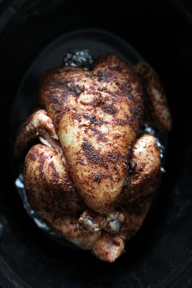 Rotisserie Chicken cooked in a slow cooker