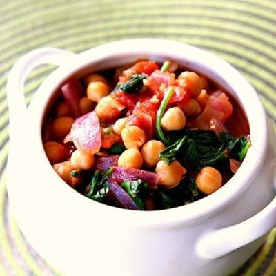 Spinach, Tomato & Chickpea Stew
