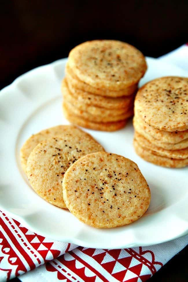 Peppery Parmesan Shortbread