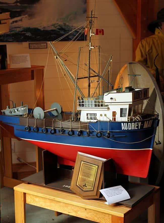 Wooden Boat miniature at the Maritime centre