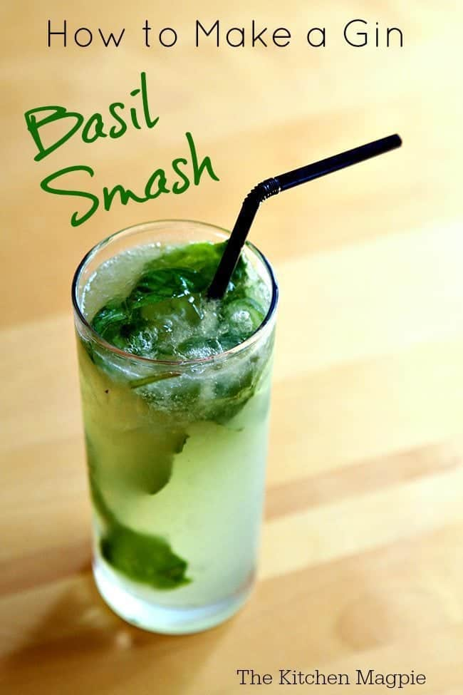 How To Make a Gin Basil Smash from @kitchenmagpie