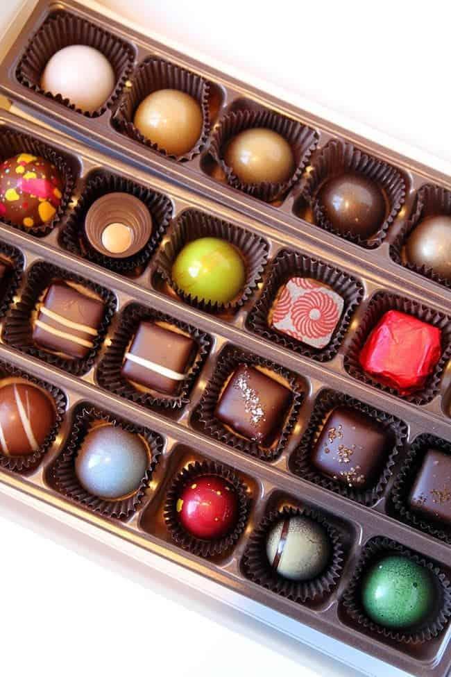 Jacek colorful chocolate sampler