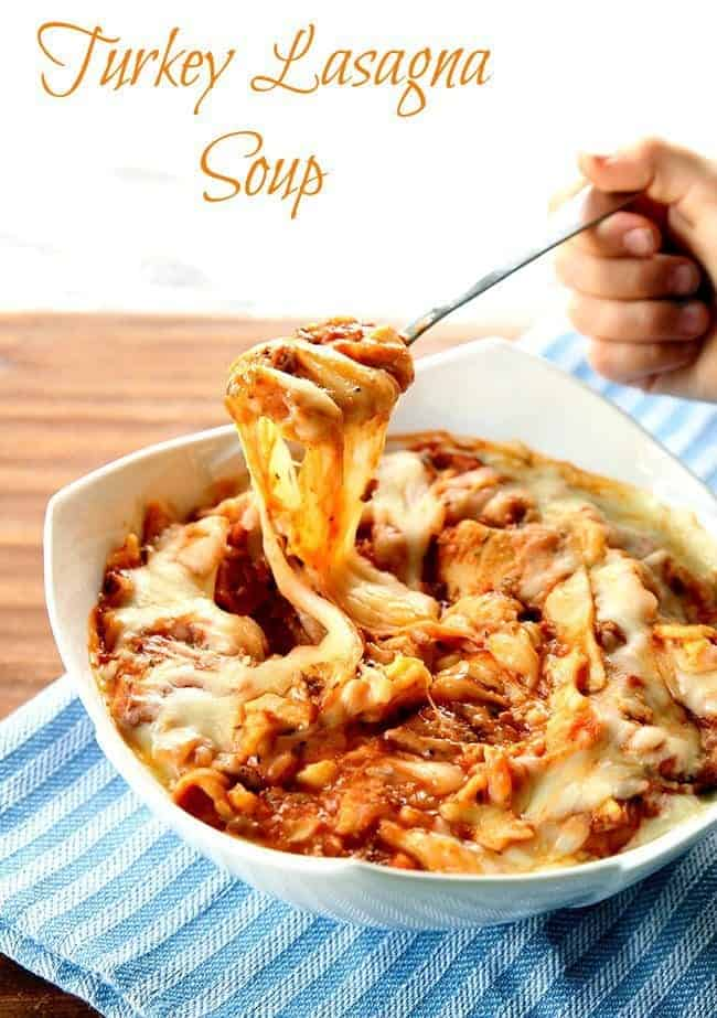 Turkey Lasagna Soup from @kitchenmagpie
