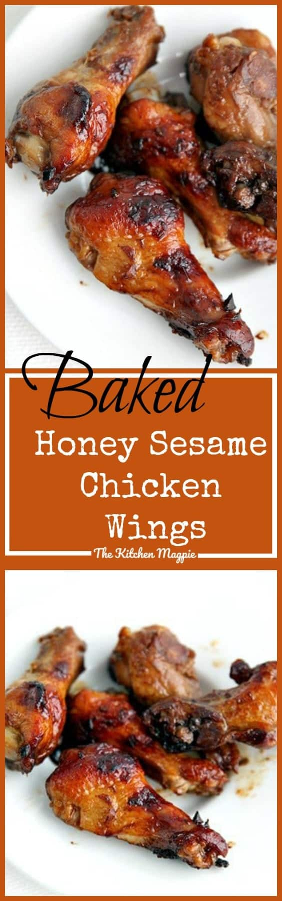 Baked Honey Sesame Chicken Wings from @kitchenmagpie