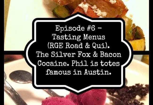 collage of tasting menus - Bacon Cocaine & The Silver Fox