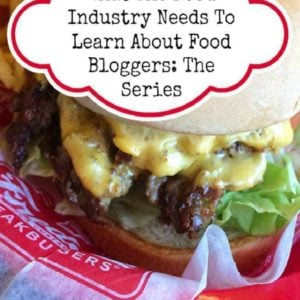 FOOD BLOGGER SERIES - close up of cheesy burger
