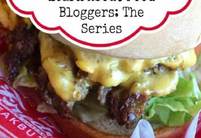 FOOD BLOGGER SERIES - close up of cheesy burger