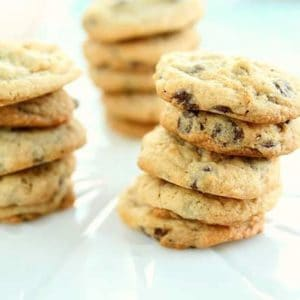 stack of Cheesecake Chocolate Chip Cookies