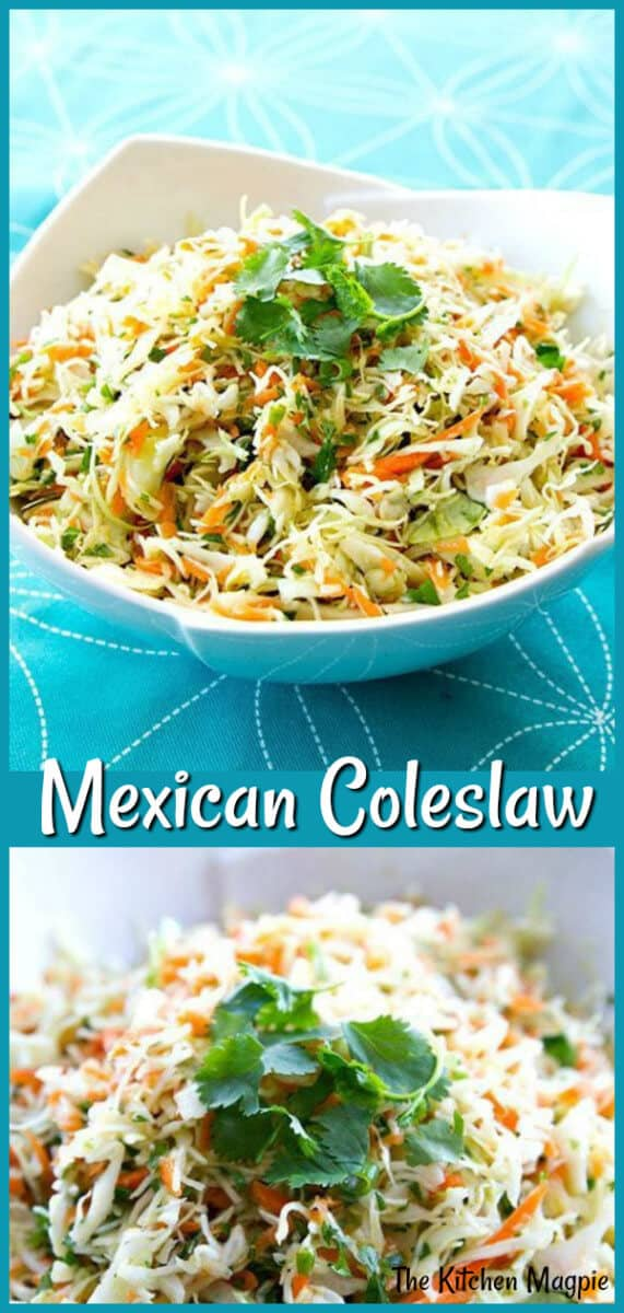 Easy and fast Mexican coleslaw, a powerhouse of healthy vegetables! (that also happens to taste delicious!) #coleslaw #mexican #cabbage #healthy