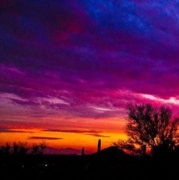 360 Degrees of Arizona Sunset