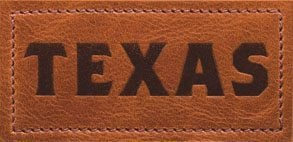 texas print in leather