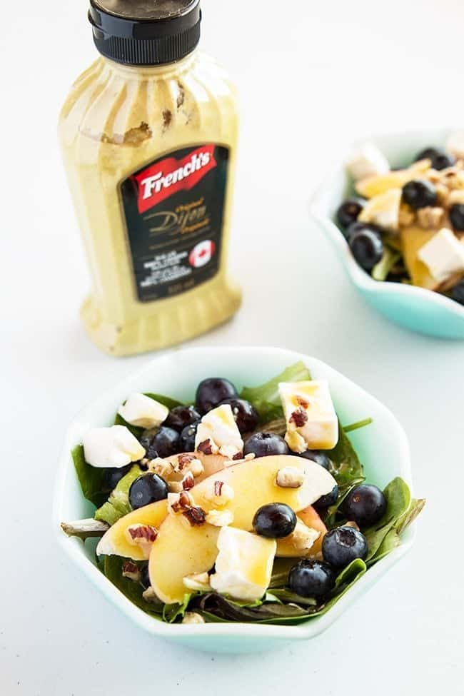Blueberry Apple Swiss Salad with French's Dijon Mustard Vinaigrette from @kitchenmagpie