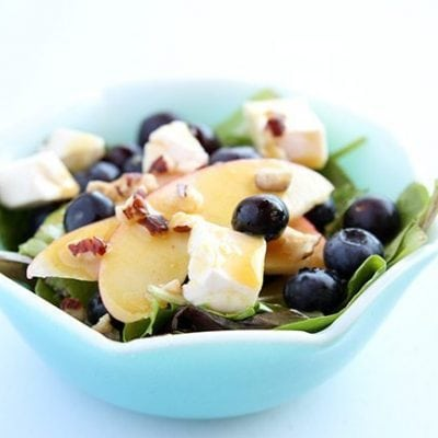 Blueberry Apple Swiss Salad with French's Dijon Mustard Vinaigrette