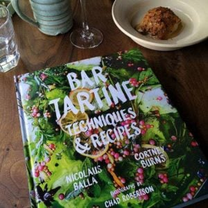 A Copy of Bar Tartine Recipe Book in the table