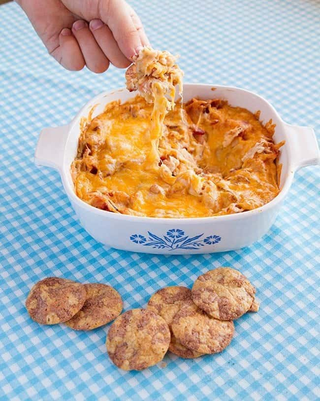 ... Ranch, Bacon & Cheddar Dip With Breton Popped! Beans Cracker Chips