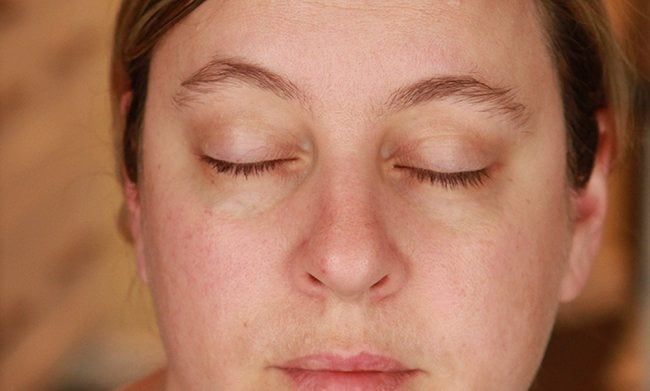 face of woman showing the eye area