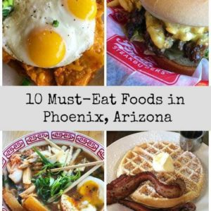 Collage of 10 Must-Eat Foods in Phoenix, Arizona