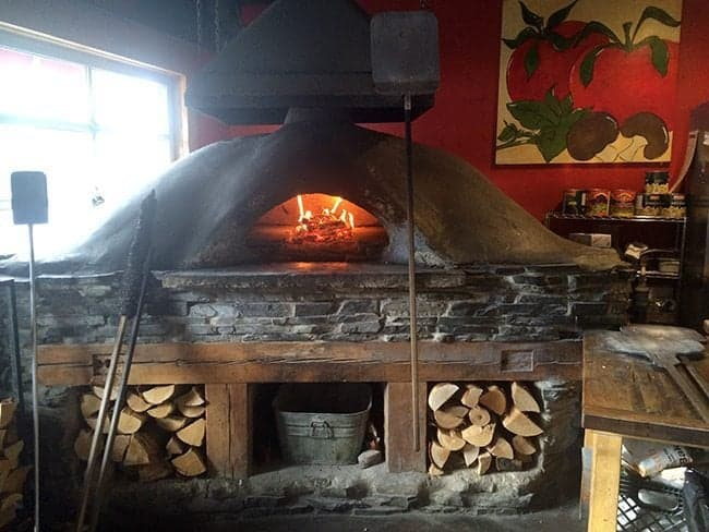 gorgeous oven at Rocky Mountain Flatbread Company