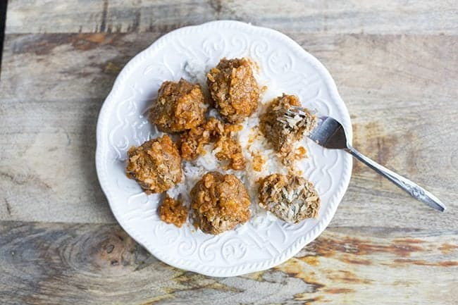 Classic Retro Porcupine Meatballs from @kitchenmagpie