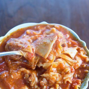 Italian Sausage Lasagna Soup