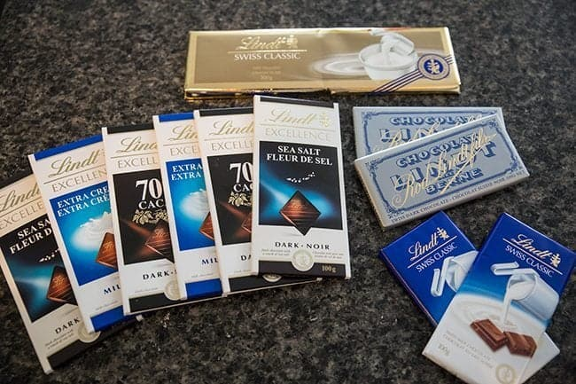 Lindt chocolate products for Stuffed Monkey Bread
