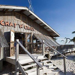 Chat n' Chill food store in the Bahamas beach