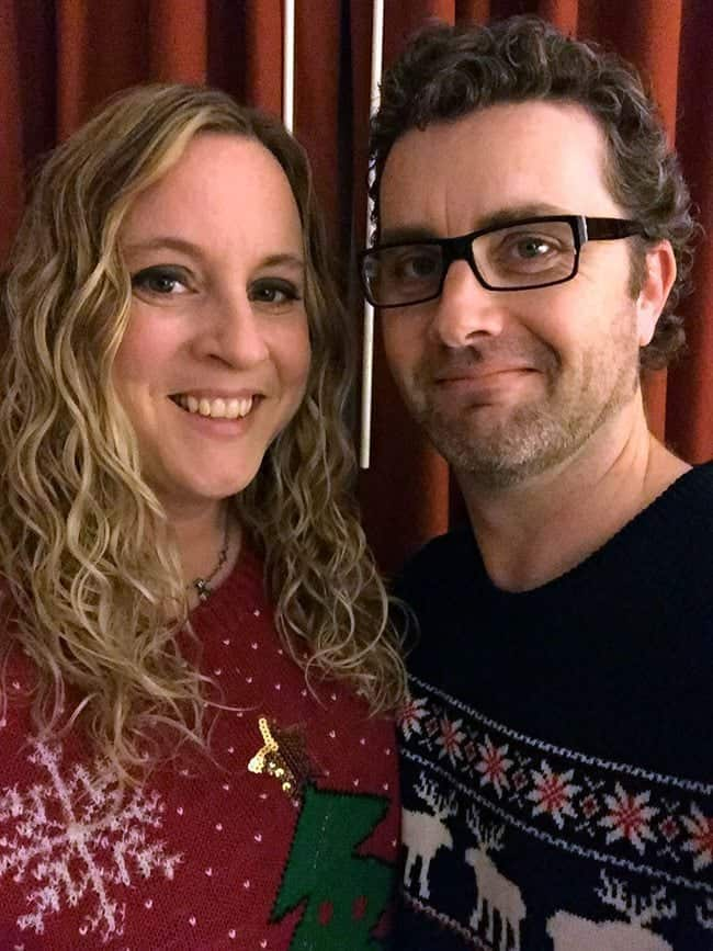 Christmas in November 2015 - woman and man in red knitted sweaters