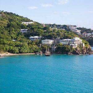 beautiful view of St. Thomas, US Virgin Islands