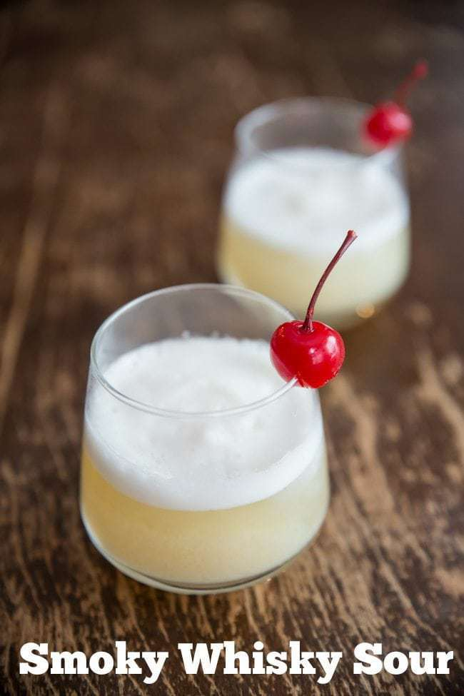 How to Make a Smoky Whisky Sour cocktail from @kitchenmagpie