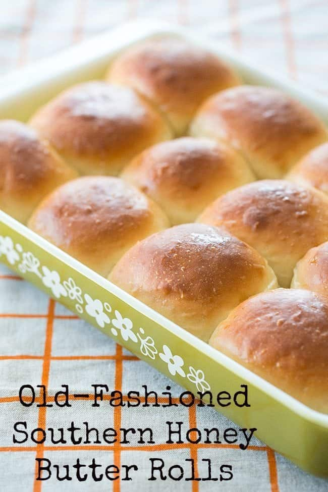 Old-Fashioned Southern Honey Butter Rolls #baking #rolls #honey #butter