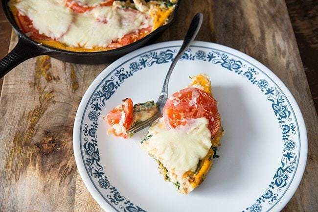 Vegetable Pizza Breakfast Skillet from @kitchenmagpie