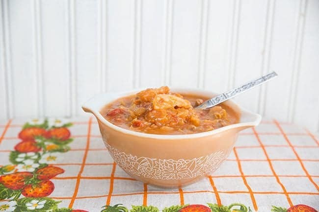 Ukrainian Cabbage Roll Soup from @kitchenmagpie