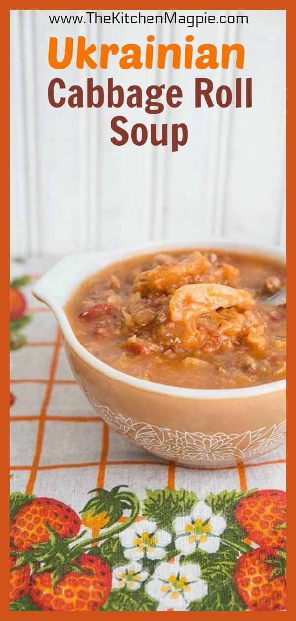 . It's healthy, hot, steamy, full of Ukrainian flavour amazing. It tastes like my Grandma's Cabbage rolls, without the actual rolling part. Which means that Ukrainian Cabbage Roll Soup ismuch easier than making cabbage rolls! #ukrainian #cabbage #cabbagesoup #cabbagerolls