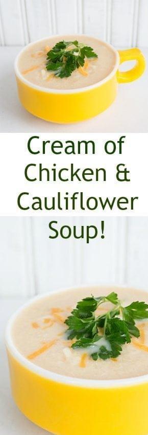 Cream of Chicken & Cauliflower Soup