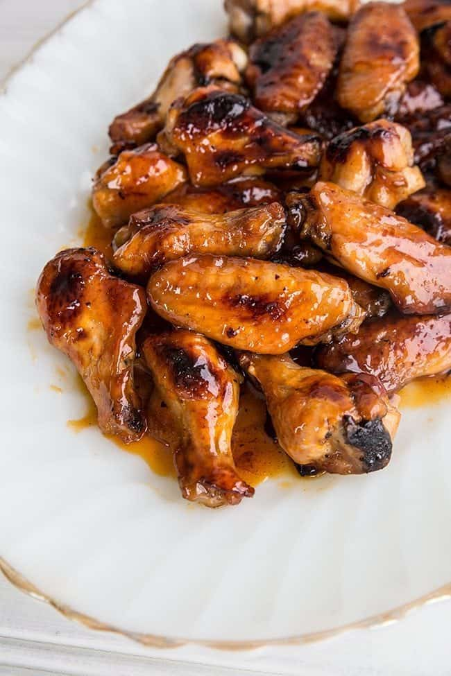 Detroit Honey Hot Wings from @kitchenmagpie