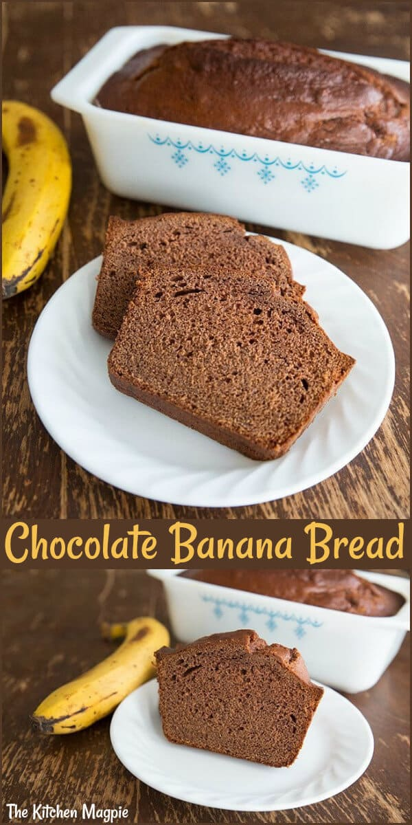 Another great way to use up those bananas in your freezer,baked up some of the delicious chocolate banana bread! #banana #bread #chocolate