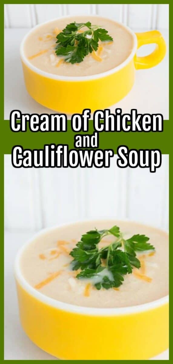 cream of chicken and cauliflower soup by @kitchenmagpie