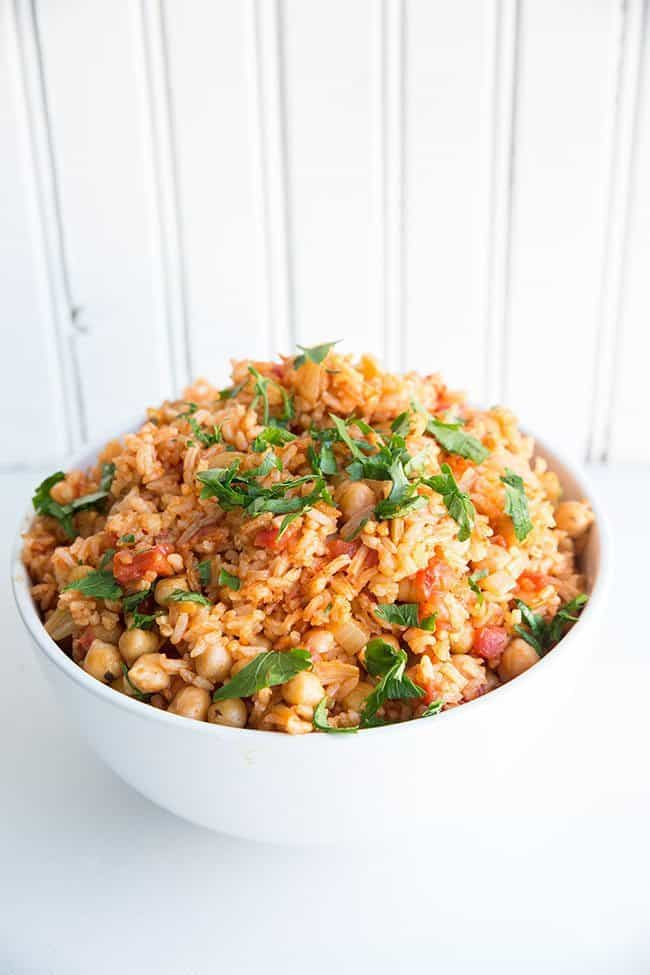 Spanish Rice With Crispy Pimenton Chickpeas Recipes — Dishmaps