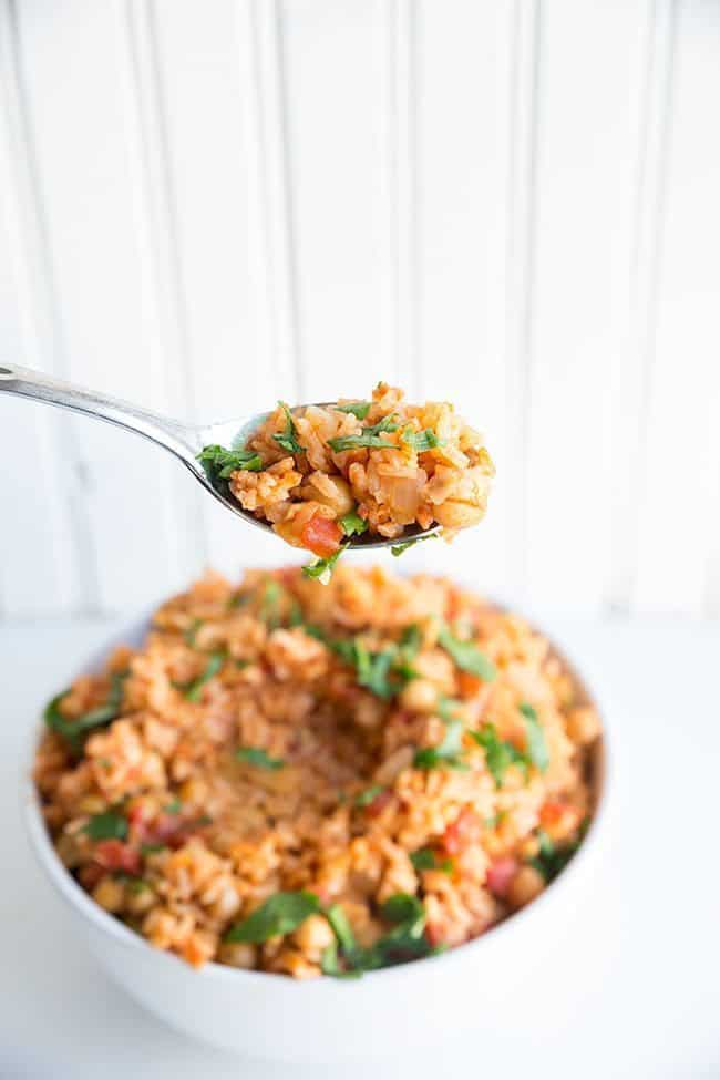 rice with crispy pimenton chickpeas recipes dishmaps spanish rice with ...